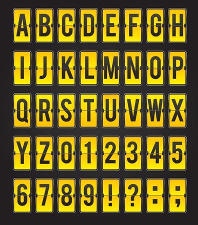 Yellow sleek abc flipping panel Stock Vector - 9209377