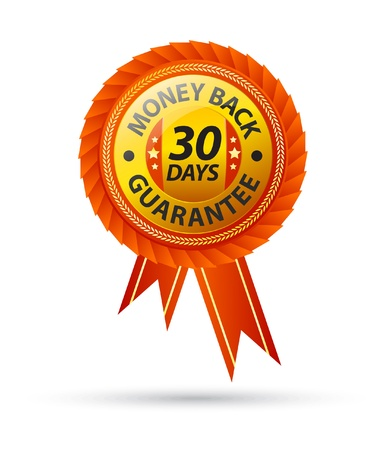 30 day money back guarantee sign Stock Vector - 9209374