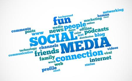 Social Media text cloud Stock Vector - 9209371