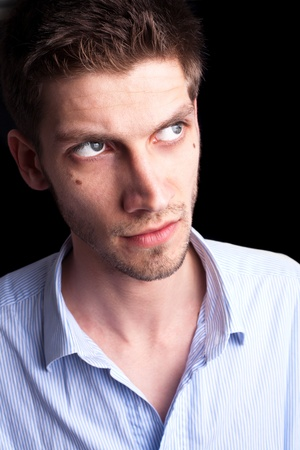 Close-up portrait of man with deep sparkling eyes 2 Stock Photo - 9289221