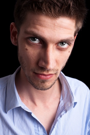 Close-up portrait of man with deep sparkling eyes 3 Stock Photo - 9289222