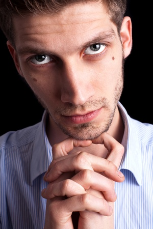 Close-up portrait of man with deep sparkling eyes Stock Photo - 9289291