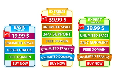 Web elements web host banners Stock Vector - 9342245