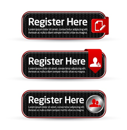 Carbon register here button templates  Vector