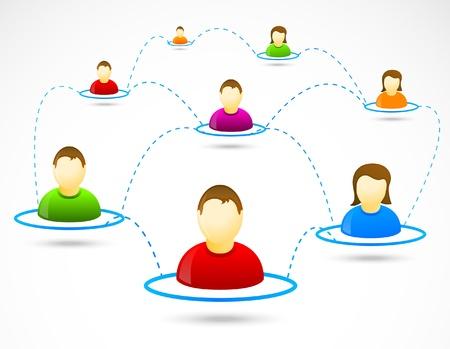 gente comunicandose: Personas de medios sociales colorido comunicaci�n