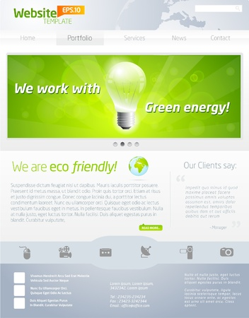 website header: Green eco website layout template