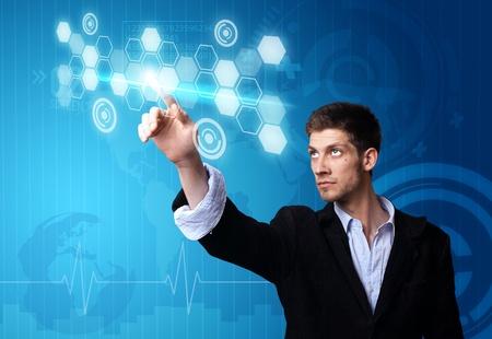 A businessman working on modern technology Stock Photo - 9451501