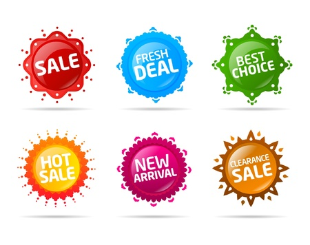 Colorful sale label star collection Stock Vector - 9498681