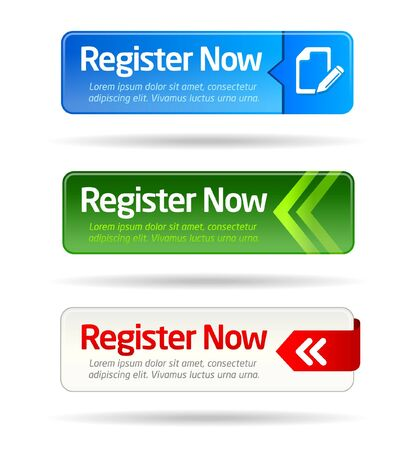 register button: Register here modern button templates