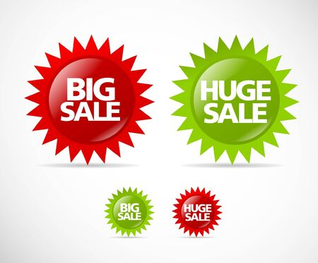 Colorful sale label collection Stock Vector - 9611715