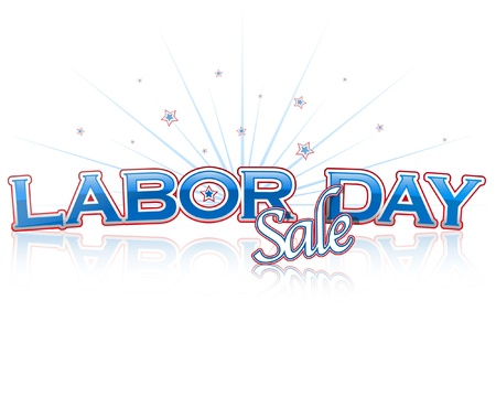 Labor Day Sale lettering Vector