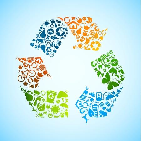 reciclar: reciclar vector icono