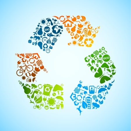 recycler: recyclage ic�ne vecteur Illustration