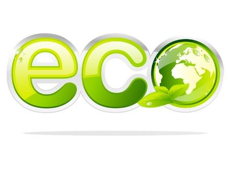 Eco Earth label Stock Vector - 9648986