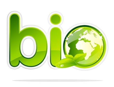 Bio Earth label Stock Vector - 9648997