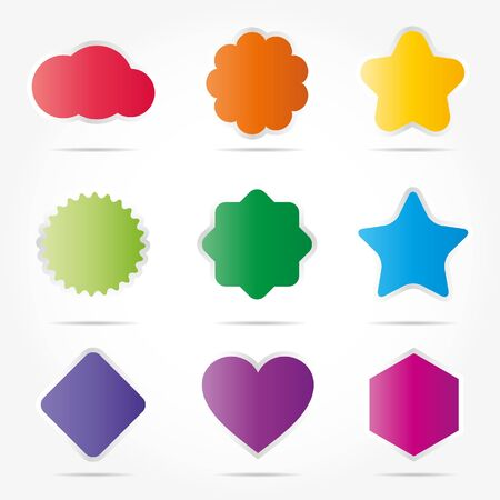Colorful shapes Stock Vector - 9648983