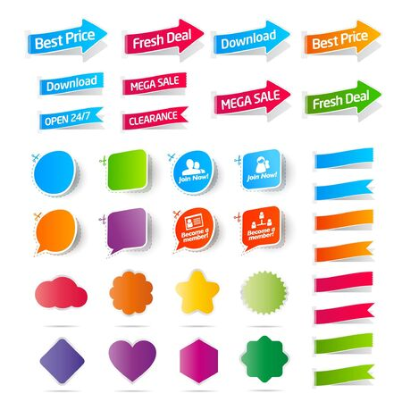 Collection of Sale labels Stock Vector - 9648999