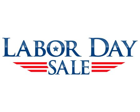 sales person: Labor day sale vector lettering