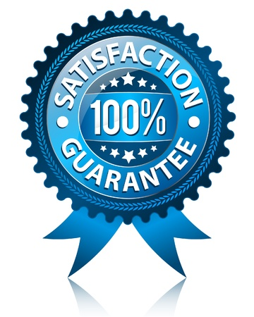 quality assurance: Satisfaction Guarantee Label  Illustration