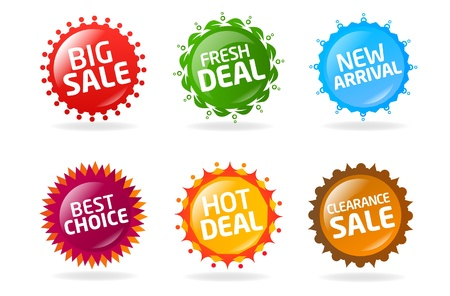 Sale labels Stock Vector - 9648989