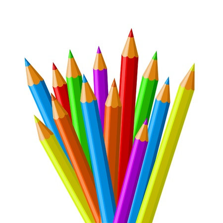 schoolwork: colorful school crayons