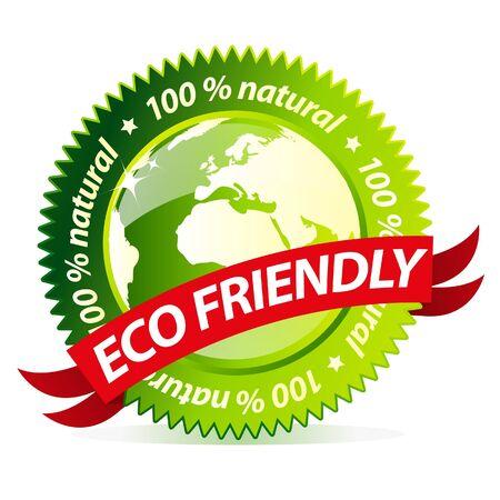 earth friendly: Eco amigable signo natural  Vectores