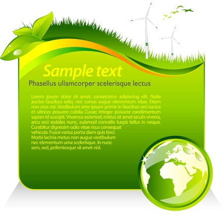 earth friendly: Green eco template  Illustration