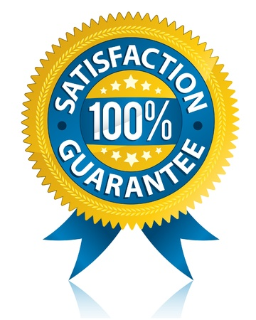 Satisfaction guarantee label  Stock Vector - 9649005