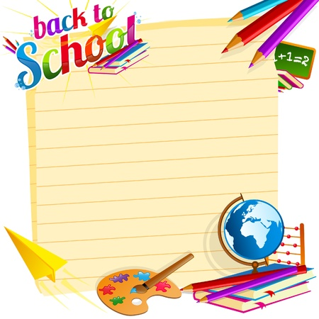 school objects: Back to school vector template