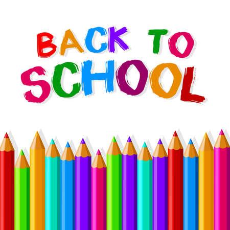 Back to school crayons  Vector