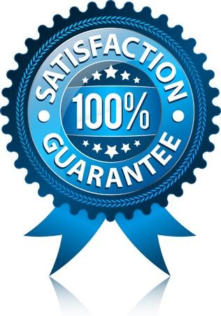 autocollant: 100 % Satisfaction garantie signe  Illustration