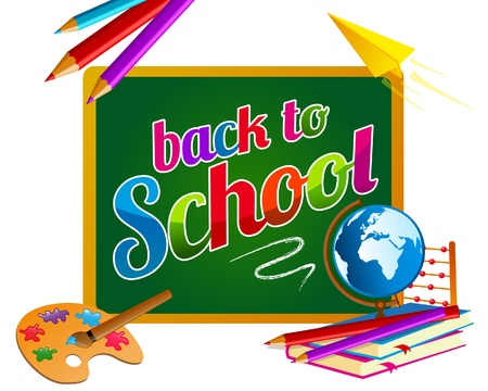 Back to school chalkboard banner Vector