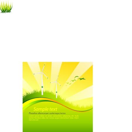 Vector green eco template Vector
