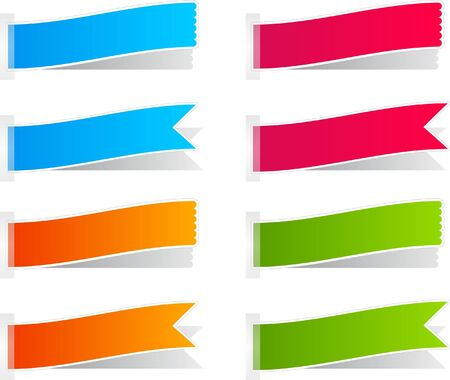 Colorful collection of labels, stickers and banners Vector