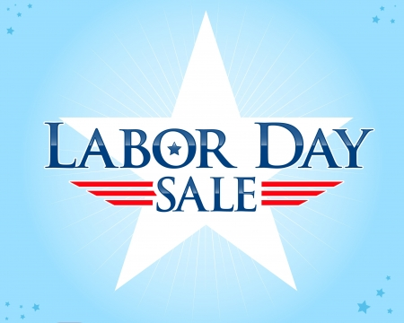 Labor day sale vector flyer Vector