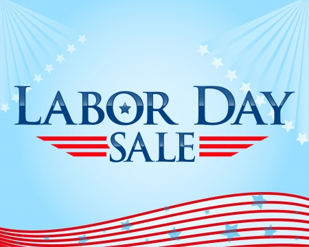 Labor day sale vector flyer Stock Vector - 9945949