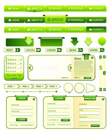 Web éléments verte collection