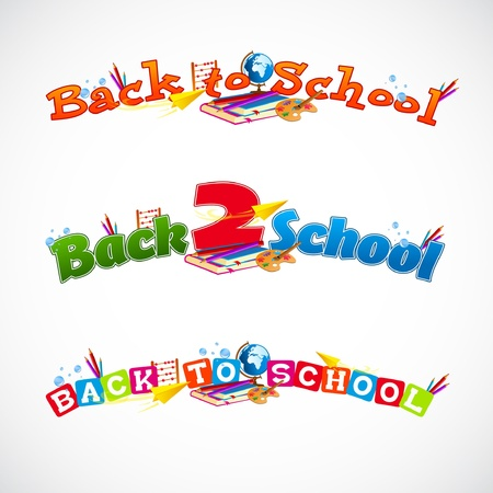 old school: Back to school typography header collection 1
