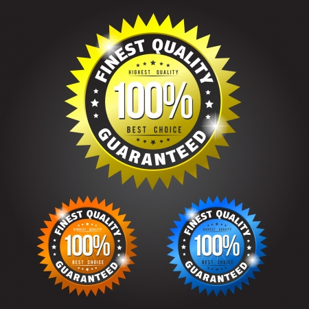 Finest quality gold, orange and blue patches