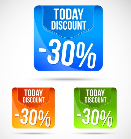 torrent: Colorful Save today discount banners and ads