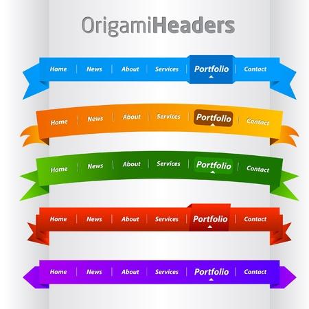 web header: Plantilla de recopilaci�n de web colorido encabezado