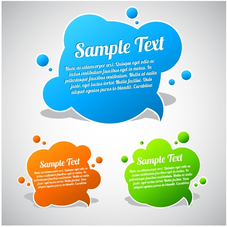 Colorful speech bubble template collection Vector