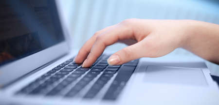 Close-up of typing female hands Stock Photo - 12685339