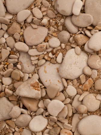 Decorative floor texture with gravel stones photo