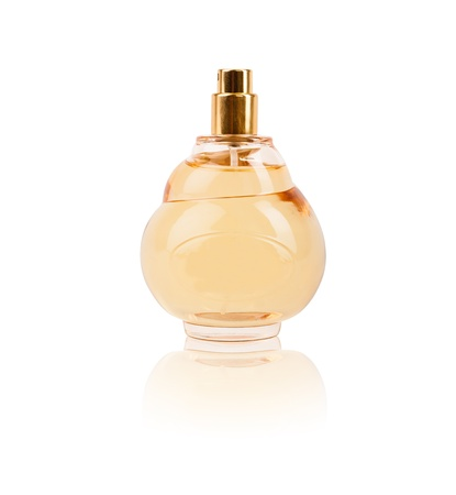 womens perfume in beautiful bottle isolated photo