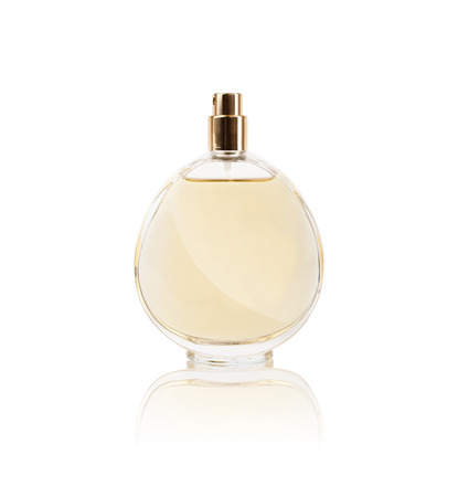 womens perfume in beautiful bottle isolated