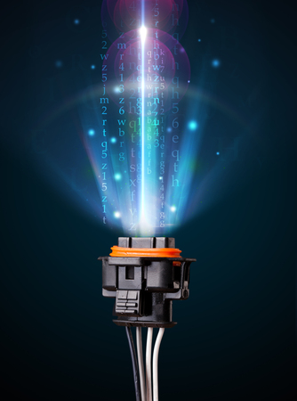 Glowing electric cable close-up Stock Photo - 24554794