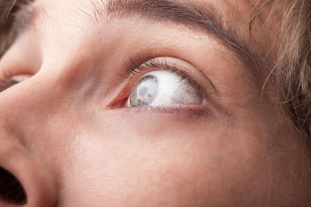 close up eye: