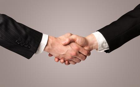blow up: Business handshake on gradient background