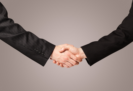 stretta di mano: Business handshake on gradient background
